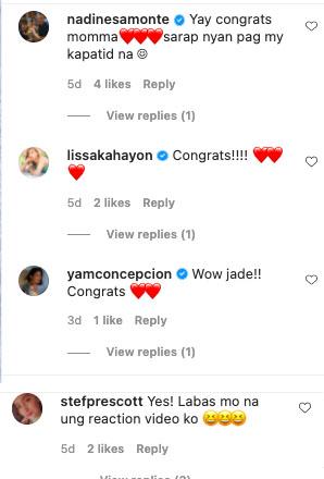 Jade Lopez baby announcement