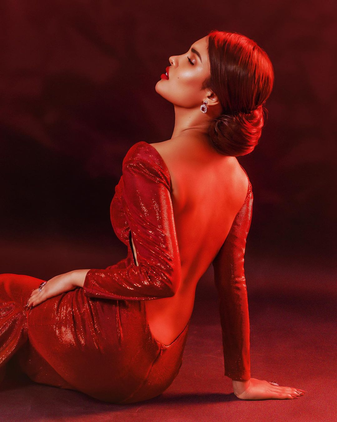 Rabiya Mateo in red gown by Carl Acusa