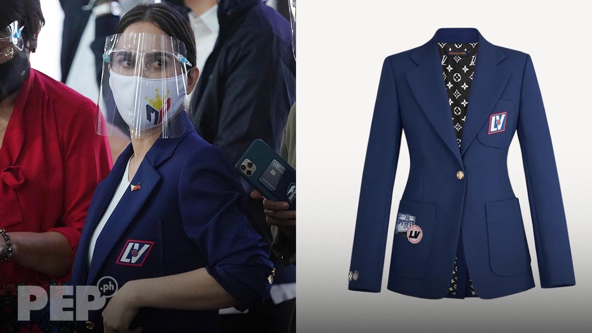 Jinkee Pacquiao Louis Vuitton patch blazer