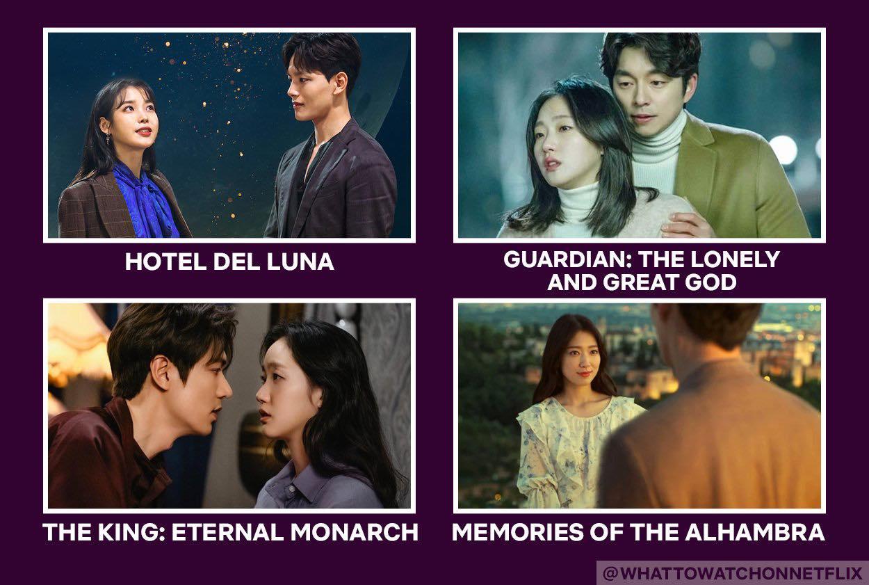 romantic fantasy korean drama on netflix: hotel del luna, goblin, the king eternal monarch, memories of the alhambra