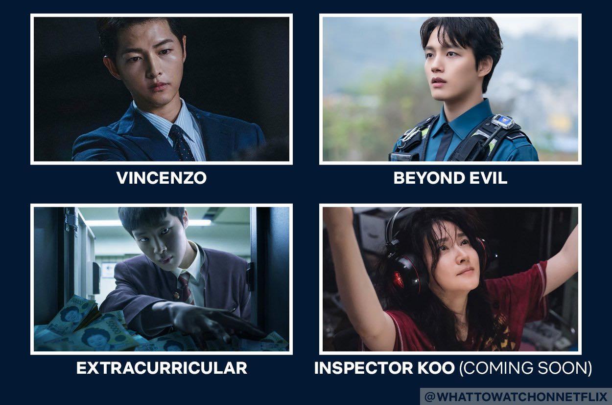 suspenseful crime korean drama on netflix: vincenzo, beyond evil, extracurricular, inspector coo