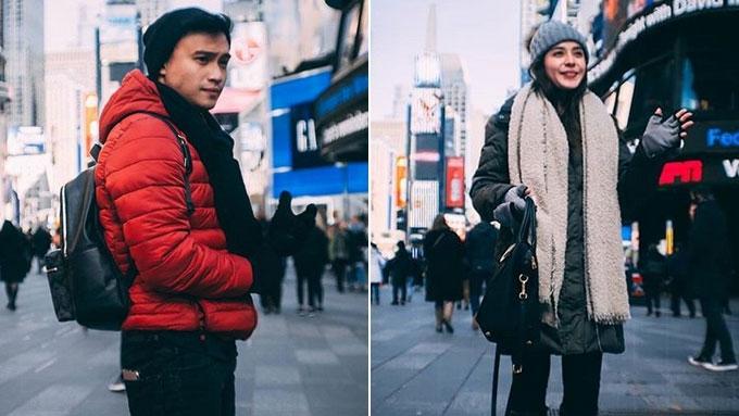 Edgar Allan Guzman at Shaira Mae dela Cruz, magkasamang bumiyahe sa New York kahit break na?