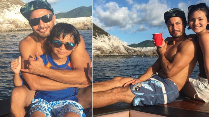 Derek spends vacation with son, girlfriend in Palawan