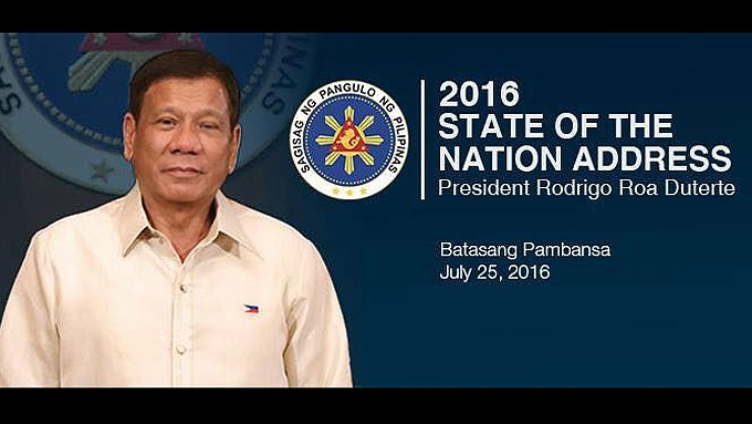 President Rodrigo Duterte's first SONA