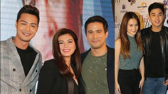 McLisse, Angel Locsin and Sam Milby's friends support <em>The Third Party</em> premiere