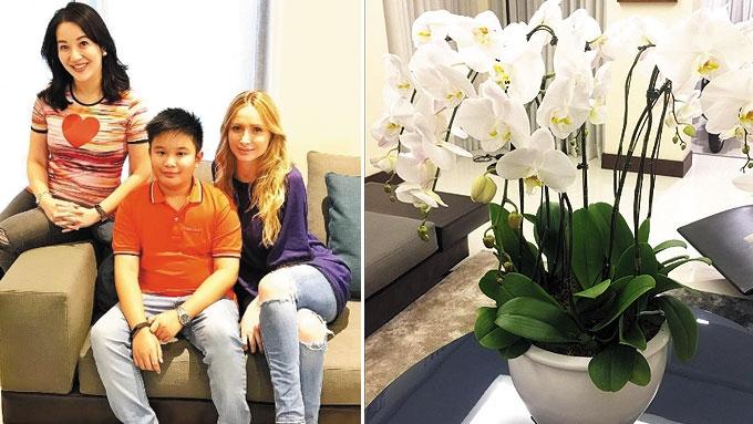 Kris Aquino gives Michela Cazzola flowers