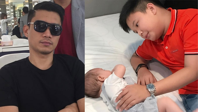 James Yap very happy that Bimby finally met his baby brother