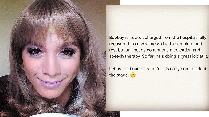 Boobay leaves hospital after stroke