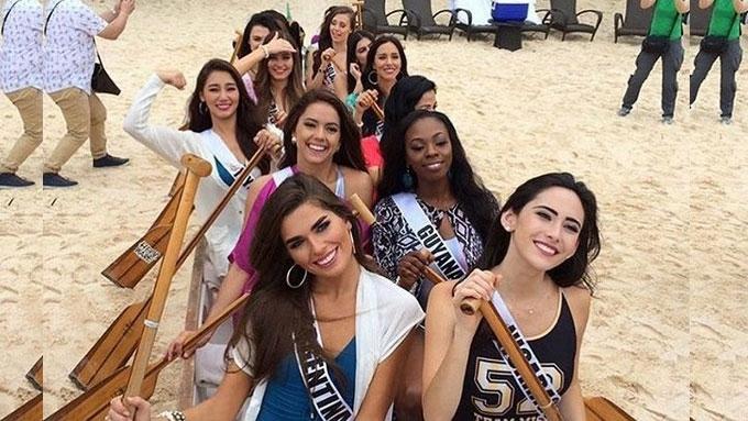 Miss Universe 2016 candidates visit Boracay