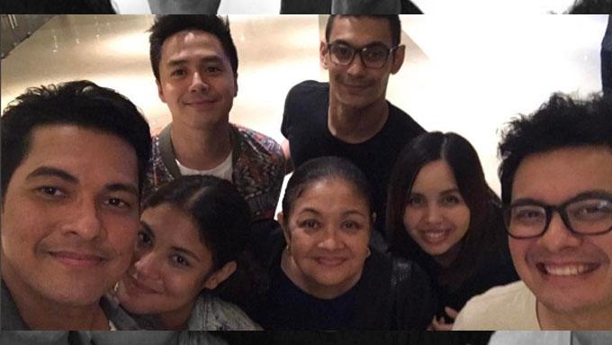 Sam Concepcion at home with GF Kiana Valenciano's family