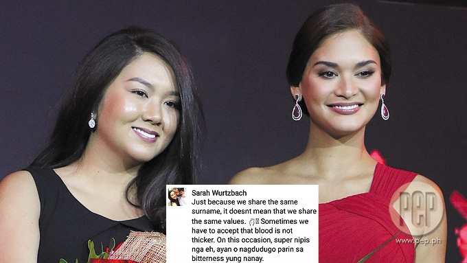 Sarah Wurtzbach slams half-brother in FB comments
