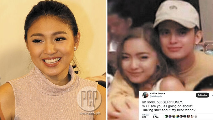 Nadine hits back at bashers for linking James to her friend