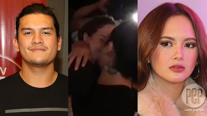 Ex-couple Ellen Adarna and Baste Duterte kiss in public
