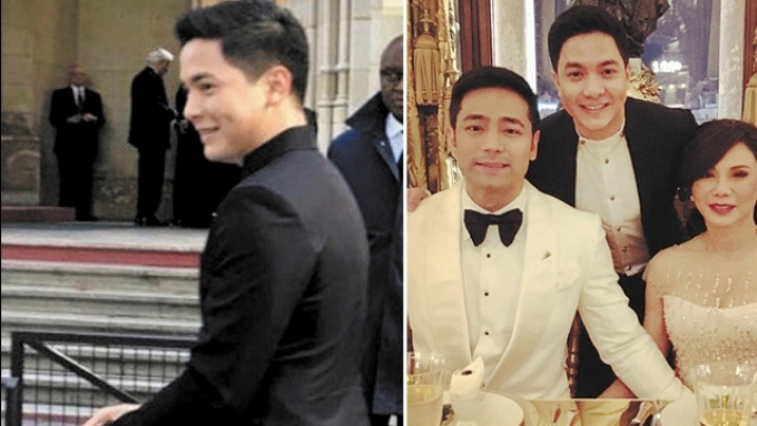 Alden gets shrieks and calls at Vicki-Hayden wedding