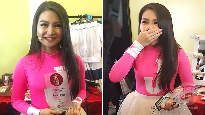 Barbie Forteza hailed as PEP List Year 4 Female Comedy Star