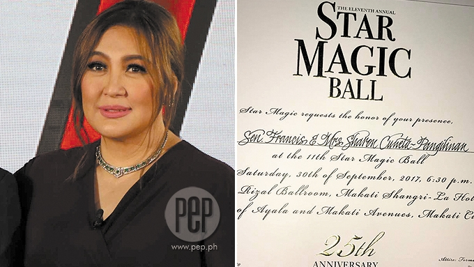 Sharon turns down last-minute invitation to Star Magic Ball