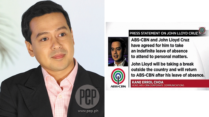 John Lloyd Cruz to take indefinite leave from showbiz
