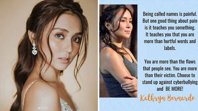 Kathryn Bernardo goes up against cyberbullying