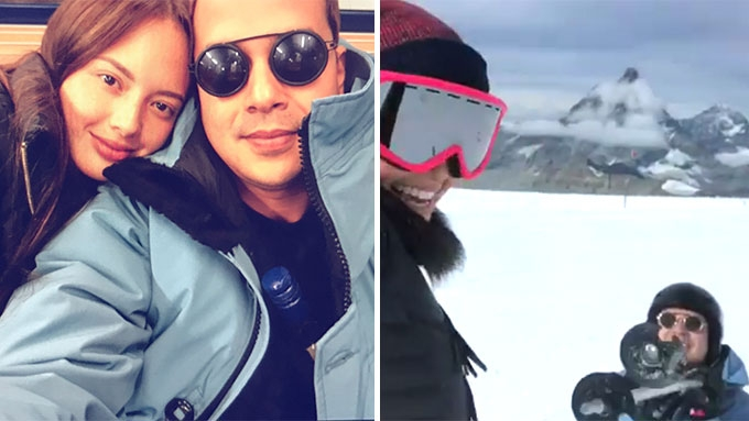 Ellen Adarna teaches John Lloyd Cruz how to ski on the Swiss Alps