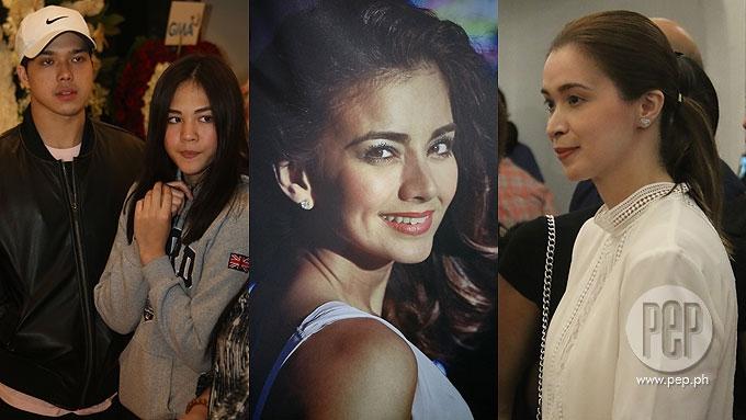 Celebrities visit first night of Isabel Granada's wake