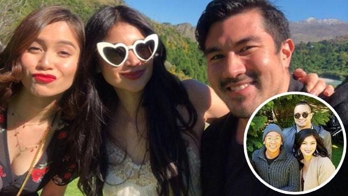 Angel, Luis, and Jessy attend Anne-Erwan wedding