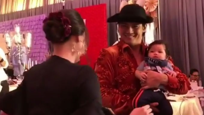 Robin Padilla meets grandson Alas for the first time