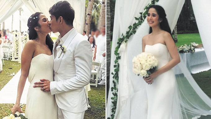 Maxene Magalona marries Robby Mananquil in Boracay