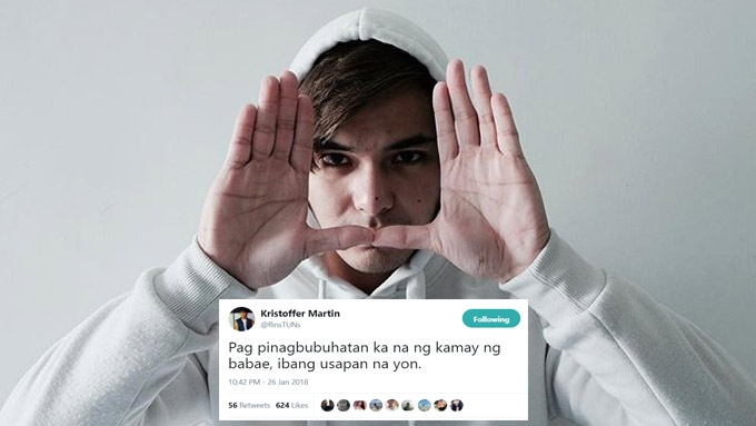 Kristoffer explains tweet that caused AlDub fans uproar