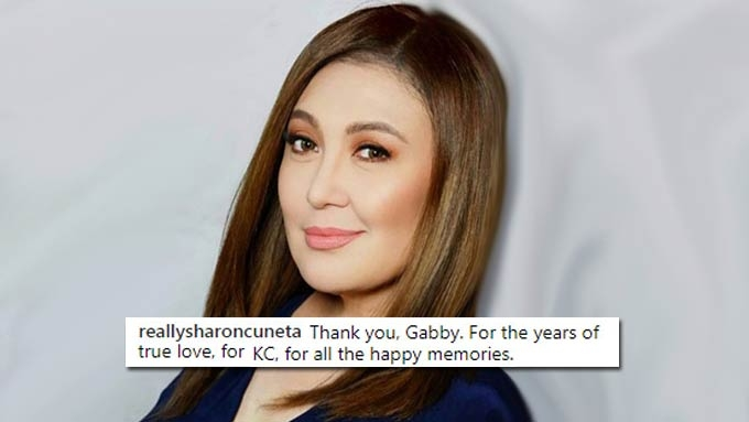 Sharon Cuneta happy to reconnect with Gabby Concepcion