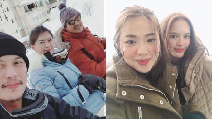 John Lloyd bonds with Ellen's brother, friends in Japan