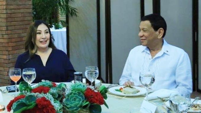 Sharon Cuneta meets President Duterte at private dinner