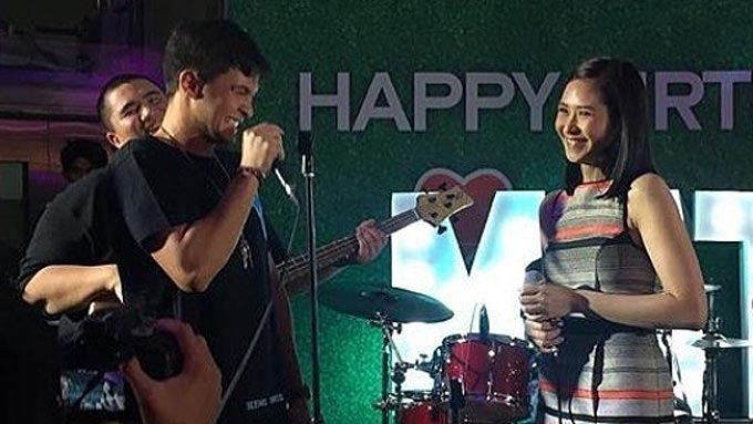 Sarah teases Matteo at his birthday party