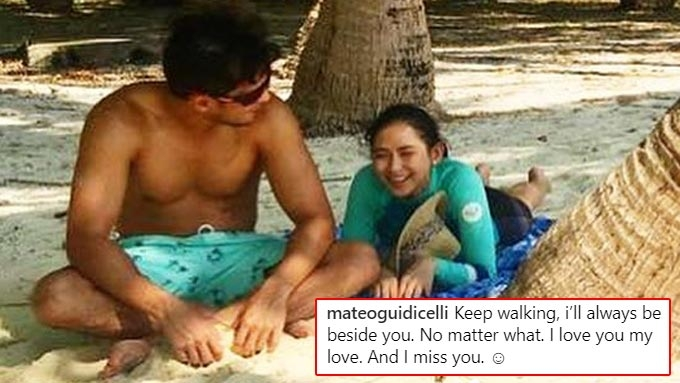 Matteo posts message of support for Sarah after breakdown