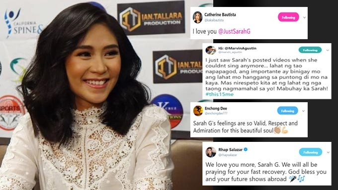 Sarah G receives heartwarming support from celebs, fans