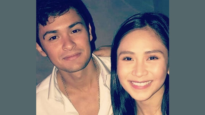 Sarah and Matteo spotted at Judy Ann's birthday party