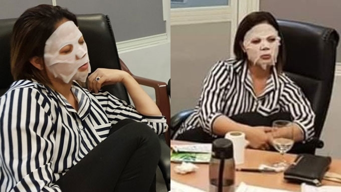 Liza Diño criticized for wearing face mask in a meeting