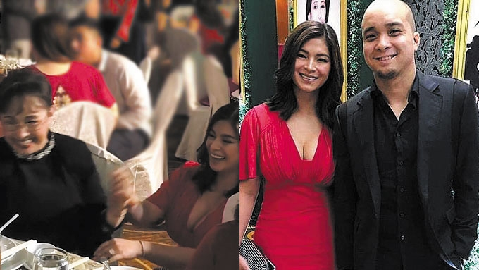 Vilma Santos, Angel Locsin hug at Mother Lily birthday bash