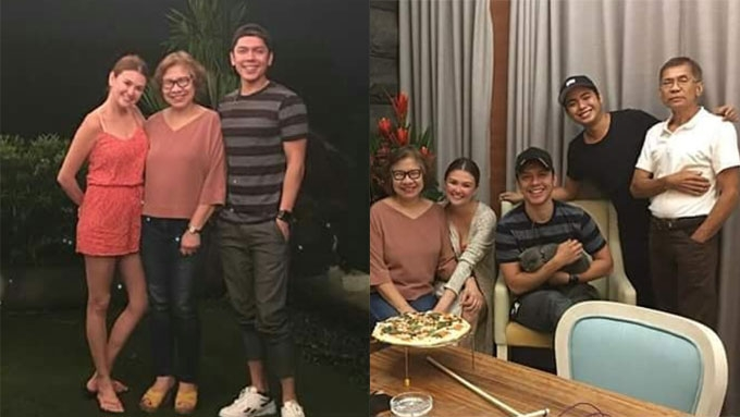 Angelica welcomes Carlo's parents to her home