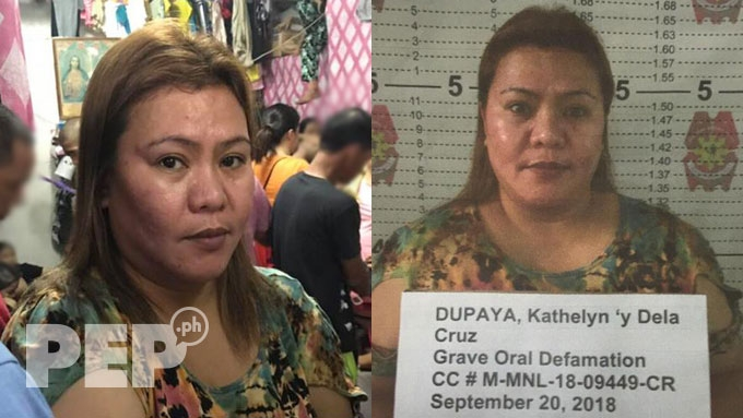Kathy Dupaya arrested for grave oral defamation