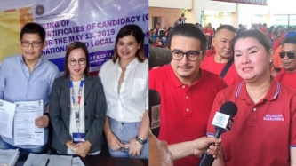 Aiko Melendez accompanies boyfriend Mayor Jay Khonghun in filing COC in Zambales