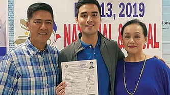 Vic Sotto and Coney Reyes's son Vico seeks Pasig mayoral seat