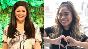 <em>American Idol</em> Season 11 runner-up Jessica Sanchez congratulates Regine Velasquez on her network switch