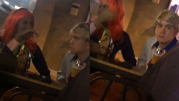Maine, Arjo spotted together last Halloween at BGC bar