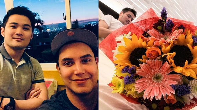 Paolo receives flowers from rumored BF on his birthday