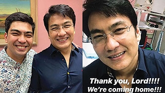Jolo and Bryan celebrate acquittal of dad Bong Revilla