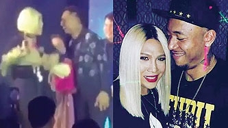Vice Ganda receives bouquet of flowers from Calvin Abueva onstage