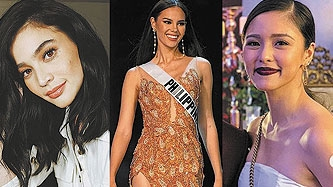 Anne Curtis, Kim Chiu cheer on Catriona Gray after Miss Universe prelims