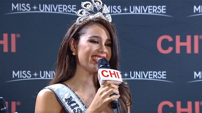 Catriona Gray gives Pinoys the best Christmas gift ever