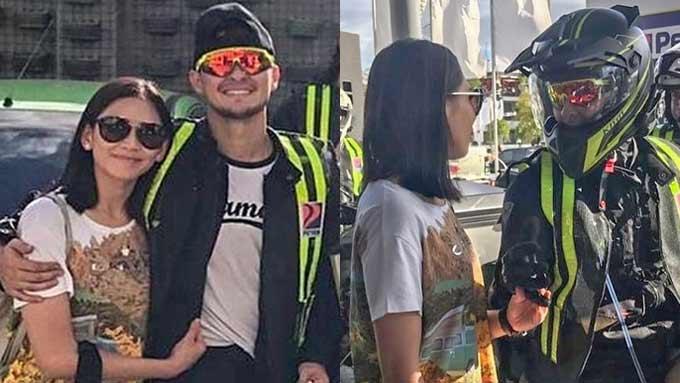 Sarah shows affection for Matteo in Pampanga trip