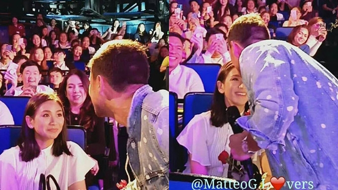 Sarah Geronimo gets forehead kiss from Matteo Guidicelli